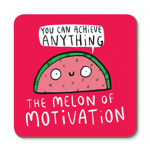 Melon of Motivation Coaster by Katie Abey - Happy Coasters - Spiffy