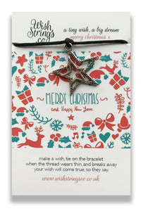 Christmas Star - Wishstring Wish Bracelet - Christmas Wish Bracelets - Spiffy
