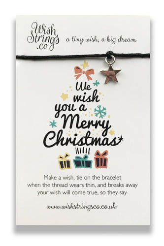 We Wish You A Merry Christmas - Wishstring Wish Bracelet