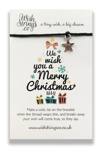 We Wish You A Merry Christmas - Wishstring Wish Bracelet - Christmas Wish Bracelets - Spiffy