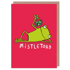 Mistletoad - Christmas Card by Katie Abey