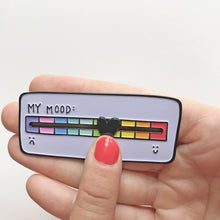 My Mood Scale Enamel Pin with Moveable Heart by Angela Chick