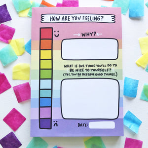 My Mood Tracker Notepad by Angela Chick - Notepads - Spiffy