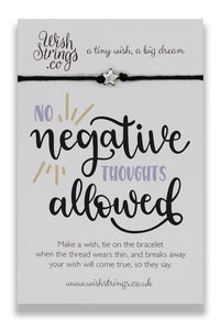 No Negative Thoughts - Wishstrings Wish Bracelet - Spiffy
