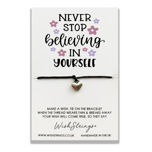 Never Stop Believing In Yourself - Wishstrings Wish Bracelet - Spiffy