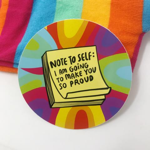 Note to Self Vinyl Sticker by Katie Abey - Stickers - Spiffy