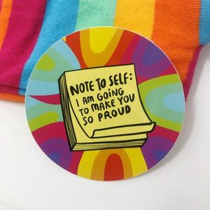 Note to Self Vinyl Sticker by Katie Abey - Spiffy