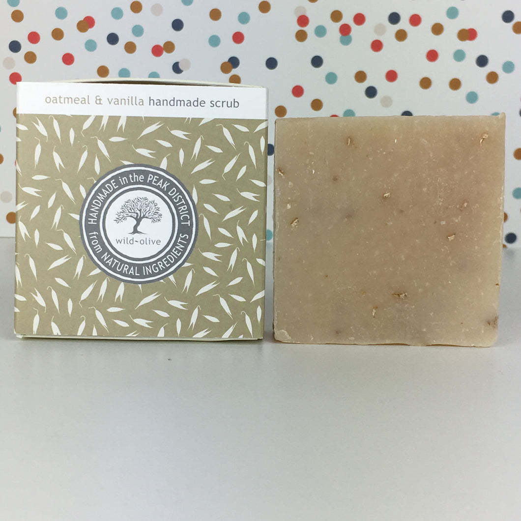 Oatmeal and Vanilla Handmade Soap by Wild Olive
