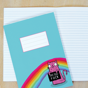 Off You F*ck A5 Notebook by Katie Abey