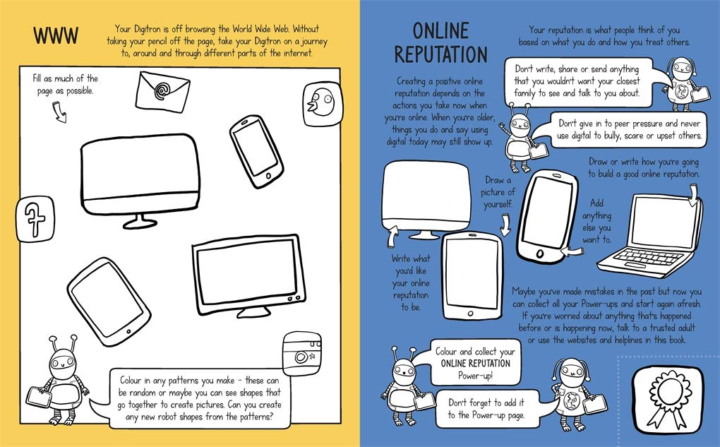 Online Offline: Mindful Kids - An activity book for young people who want to lead a healthy digital life (Book by Dr. Sharie Coombes) - Spiffy