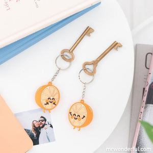 Set of 2 Keyrings - For People Who Go Well Together Oranges - Keyrings - Spiffy