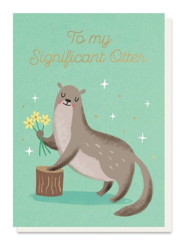 Significant Otter Love Card - Cards - Love and Romance - Spiffy