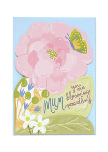 """Mum You Are Blooming Marvellous"" Greetings Card - Cards - Happy Birthday - Spiffy"