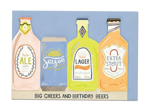 """Big Cheers and Birthday Beers"" Birthday Card - Cards - Happy Birthday - Spiffy"