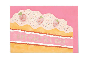 """Eat Cake All Day"" Birthday Card - Cards - Happy Birthday - Spiffy"