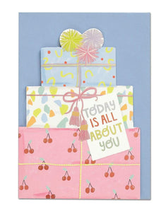 """Today is all about you"" Greetings Card - Cards - Happy Birthday - Spiffy"
