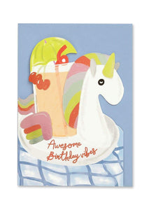 """Awesome Birthday Vibes"" Birthday Card - Cards - Happy Birthday - Spiffy"