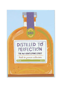 """Dad - Distilled To Perfection"" Greetings Card - Cards - Happy Birthday - Spiffy"