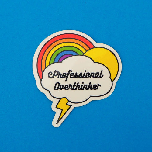 Professional Overthinker Vinyl Sticker - Spiffy