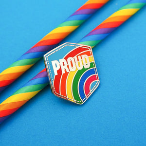 Proud Rainbow Enamel Pin - Enamel Pins - Spiffy
