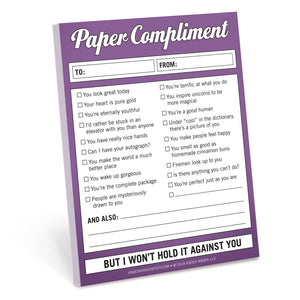 Paper Compliment Nifty Notes - Spiffy