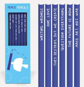 Peace Pencil Set - Affirmation Pencils - Spiffy