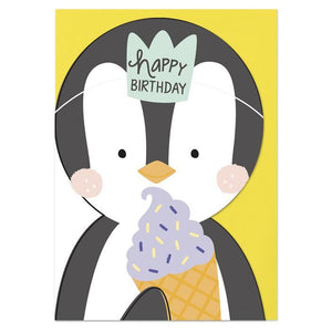 """Happy Birthday Penguin"" Birthday Card - Cards - Happy Birthday - Spiffy"