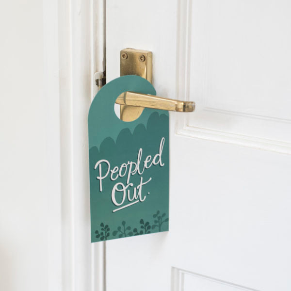 Peopled Out Door Hanger - Spiffy