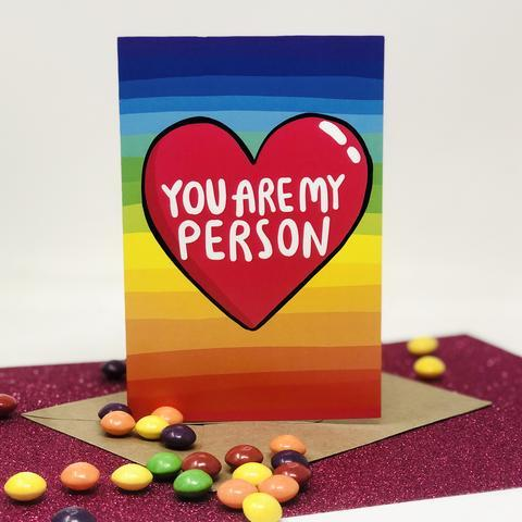 You Are My Person Greetings Card by Katie Abey - Spiffy