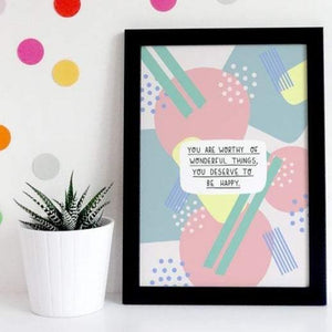 You Are Worthy A5 Print - Spiffy