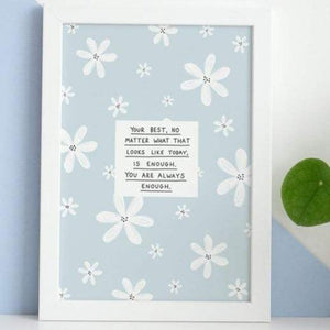 Your Best No Matter What A5 Print - Postcard Prints - Spiffy