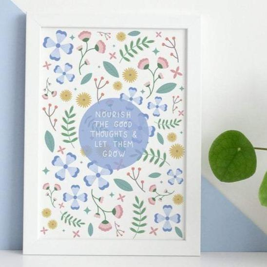 Nourish The Good Thoughts A5 Print - Postcard Prints - Spiffy