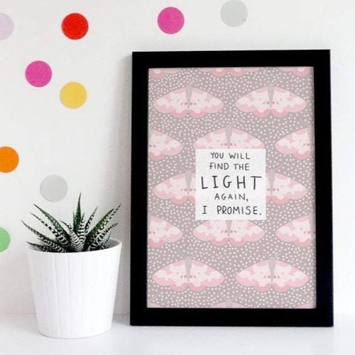 Find The Light A5 Print - Spiffy