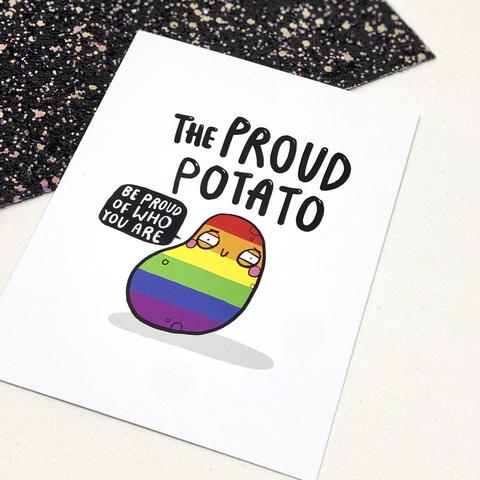 The Proud Potato A6 Postcard by Katie Abey - Spiffy