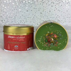 Potters Crouch 'Christmas Tree' Luxury Fragranced Christmas Candle Tin