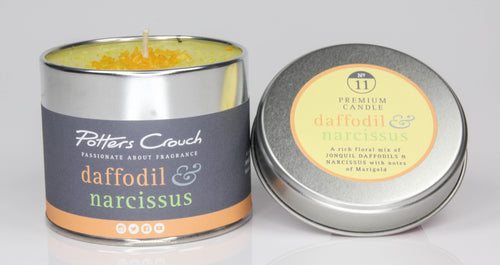 Potters Crouch Daffodil and Narcissus Luxury Fragranced Candle Tin - Spiffy