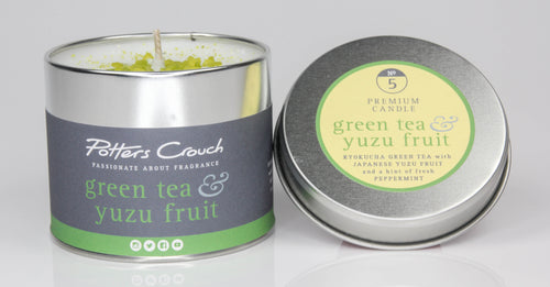 Potters Crouch Green Tea and Yuzu Fruit Luxury Fragranced Candle Tin