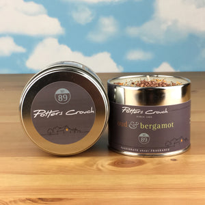 Potters Crouch Oud & Bergamot Luxury Fragranced Candle Tin
