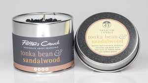 Potters Crouch Tonka Bean and Sandalwood Luxury Fragranced Candle Tin
