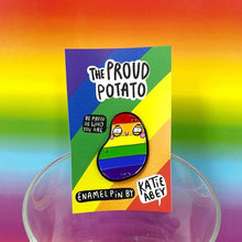 Proud Potato Enamel Pin by Katie Abey