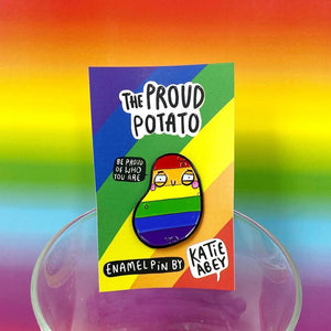 Proud Potato Enamel Pin by Katie Abey - Spiffy