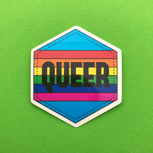 Queer Rainbow Vinyl Sticker - Stickers - Spiffy