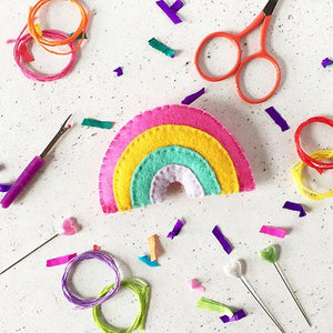 Rainbow Felt Sewing Kit - Sewing Kits - Spiffy