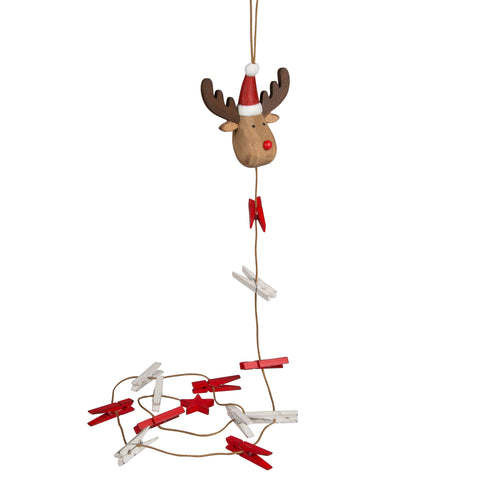 Rudi the Red & White Reindeer Card Holder