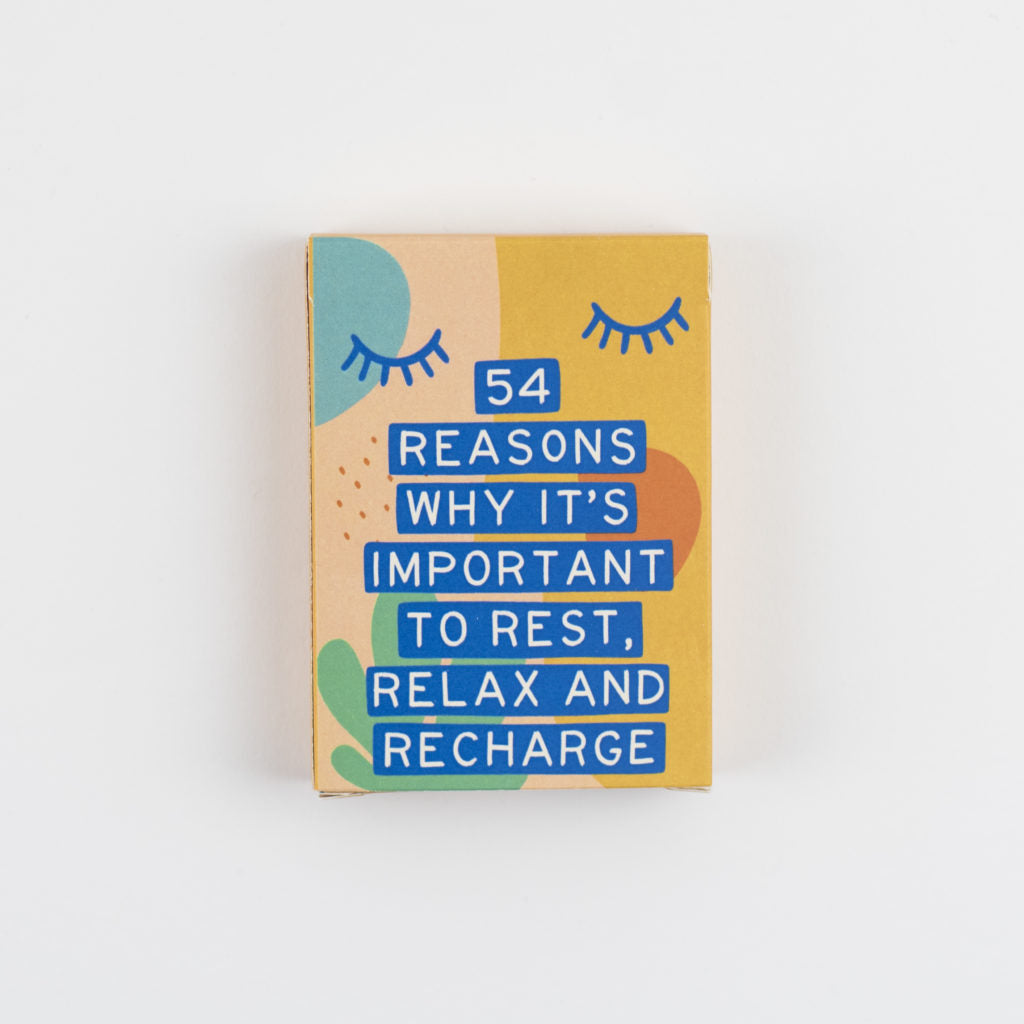 54 Reasons Why It's Important to Rest, Relax and Recharge Card Deck - Spiffy