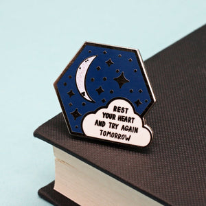 Rest Your Heart Enamel Pin by Jess Rachel Sharp - Enamel Pins - Spiffy
