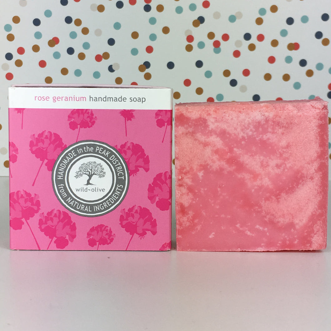 Rose Geranium Handmade Soap by Wild Olive