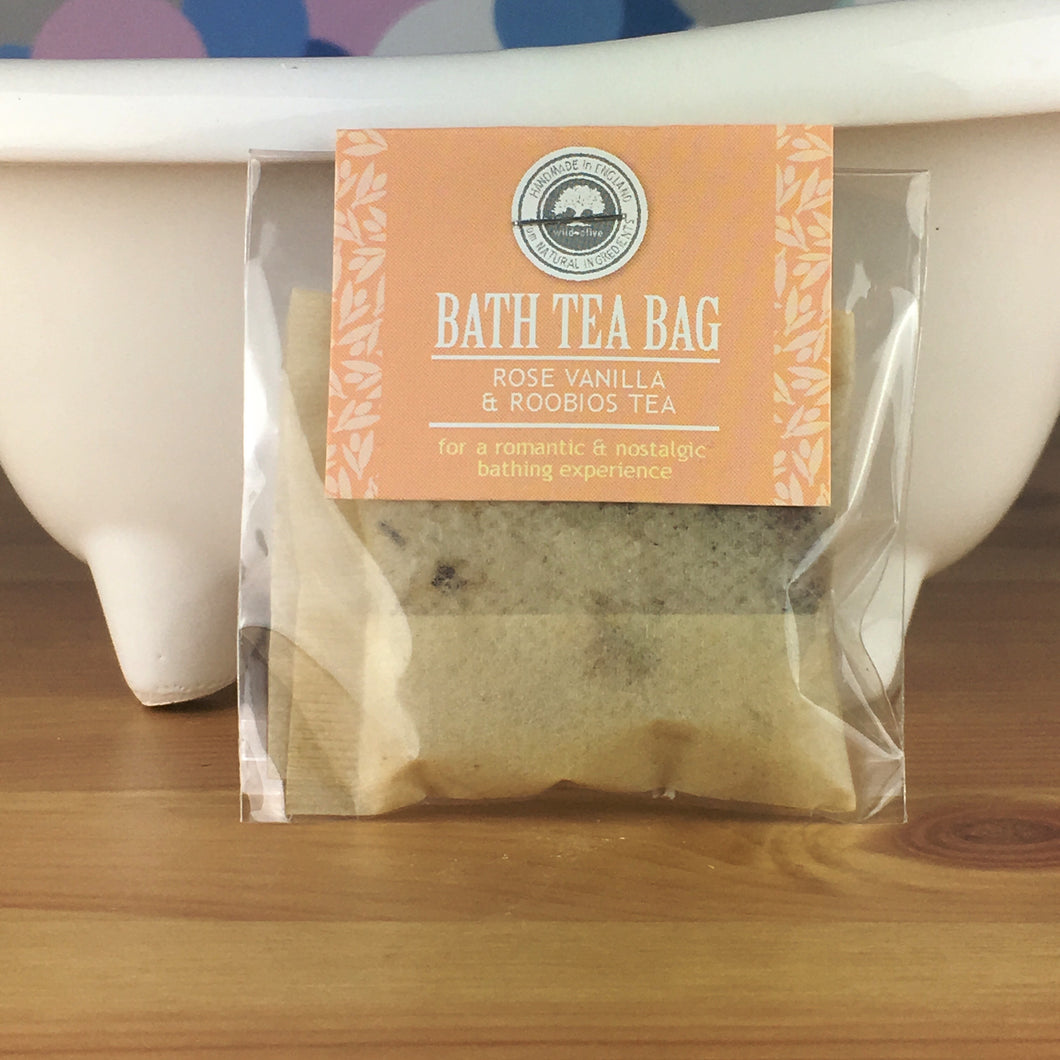 Rose Vanilla and Rooibos Tea - Bath Tea Bag by Wild Olive