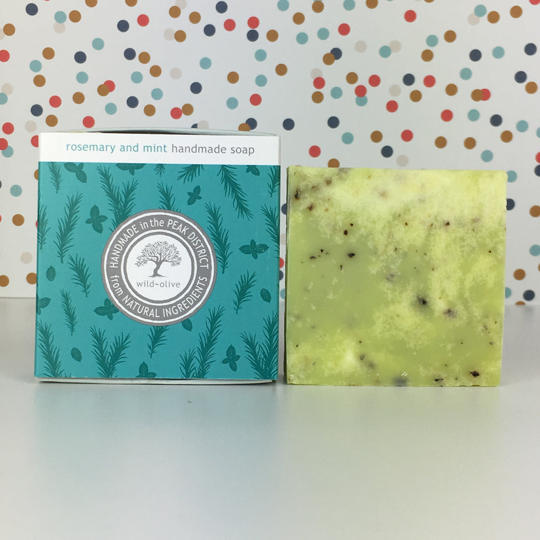 Rosemary and Mint Handmade Soap by Wild Olive