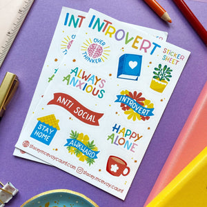 Introvert Sticker Sheet - Spiffy
